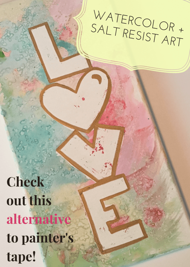 This watercolor resist art can turn a canvas into a beautiful work of art! With rubber cement instead of painter's tape, make any design you want!