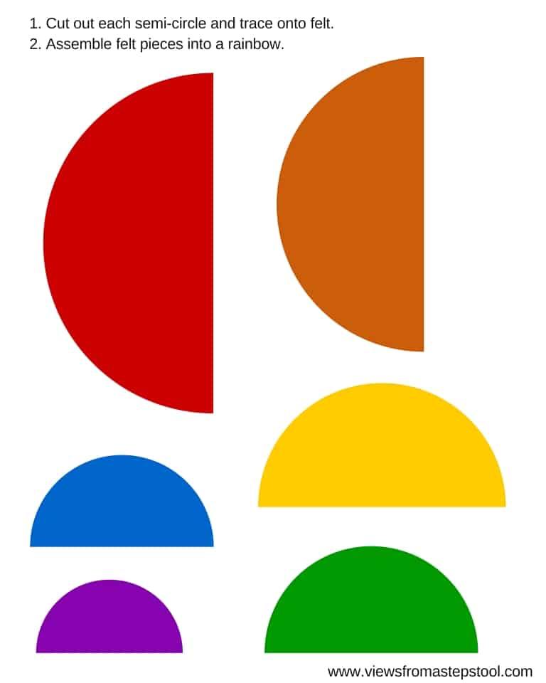 Felt Rainbow Busy Bag with Printable Template - Views From a Step Stool