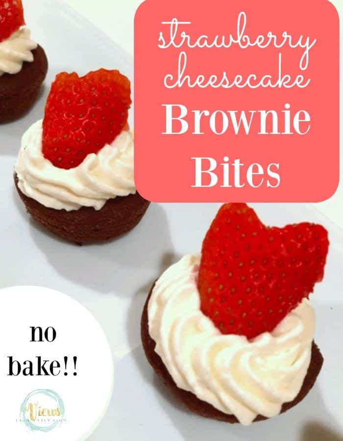 These strawberry cheesecake brownie bites are DELICIOUS and will take you less than 10 minutes to whip them up! They make the perfect last-minute party treat!