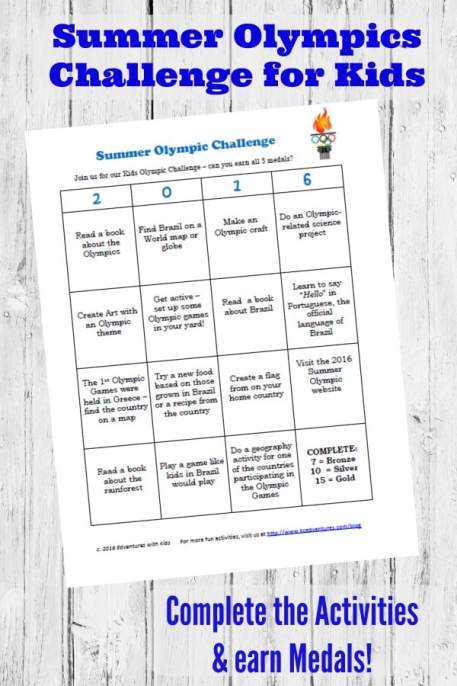 These olympic track and field events show of how science can be observed in sports! Check out these simple activities with household objects for kids' STEM! Use this printable to get kids participating and earning their medals! STEM at home goes hand in hand with the Olympics this summer, have fun with it!