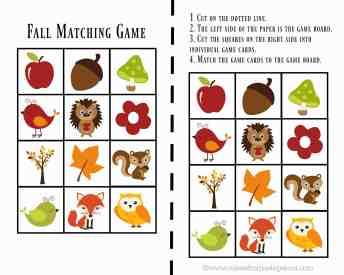 Fall Matching Game