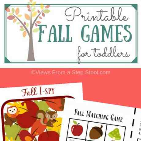 printable fall games square