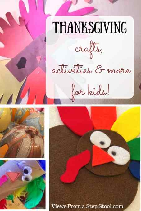 Printables, activités, crafts and treats for a kids' Thanksgiving celebration!