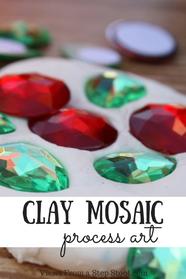 This clay mosaic process art activity is so much fun for kids to do over and over again. The focus is definitely on the process, rather than the end result!