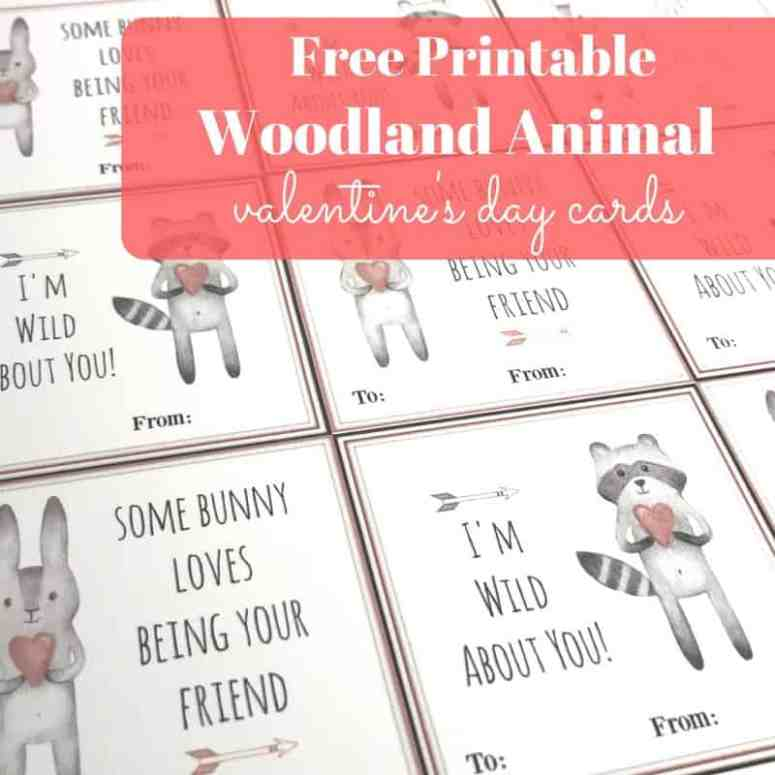 These woodland animal Valentines are perfect for preschoolers and toddlers! Little ones will love to print, cut, and pass these out!