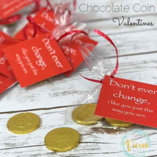 These chocolate coin valentines have the message that we love our friends just the way they are, making them perfect for classmates and friends!