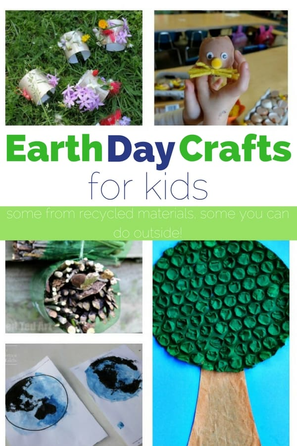 Make some of these Earth Day crafts to open up the conversation about recycling, littering or even gardening!