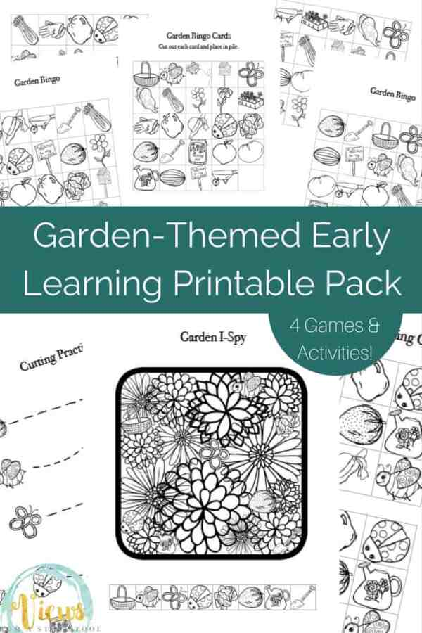 Garden-themed Early Learning Printable Pack