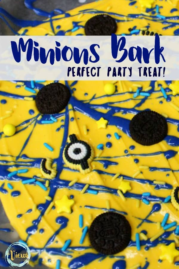 This Minions dessert is perfect to eat while watching any of the Despicable Me or Minions movies or for a party, and is so fun for the kids to make!