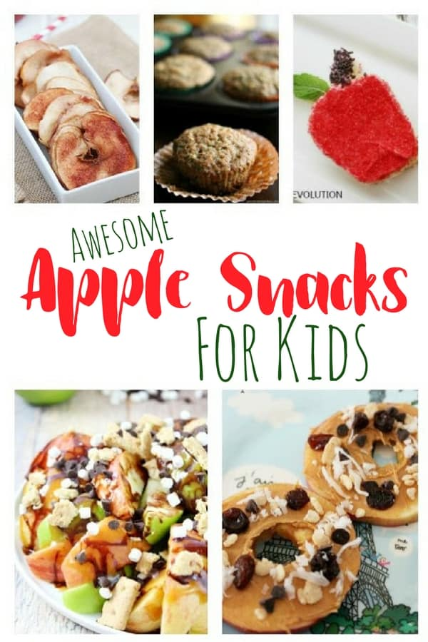 Tons of apple snacks for kids that they can help make, and will enjoy eating. Perfect for using freshly picked apples from the orchard.