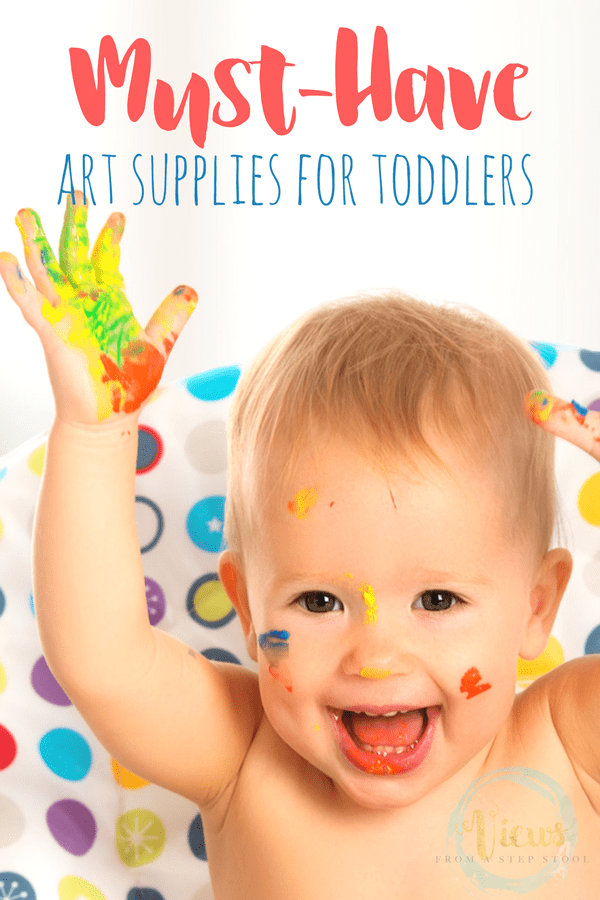 Must have art supplies for toddlers to encourage self-expression, imagination and creativity in a safe way.
