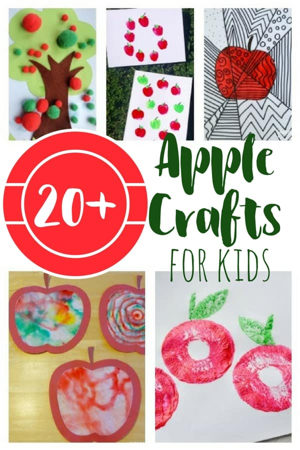 These apple crafts for kids are perfect for preschoolers and toddlers, or for adding to an apple unit. Hands-on fun for kids with a Fall theme.