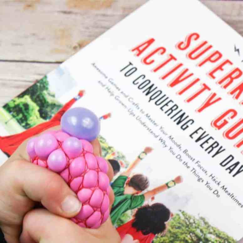This calm down squish ball is so simple to make and experiment with, and is perfect for stress relief or kids who need a little extra help calming down!