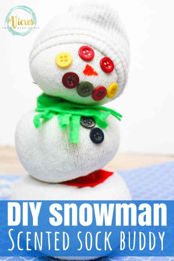 This snowman sock buddy is the perfect homemade toy or sensory tool. Add essential oils to it to enhance the sensory experience!
