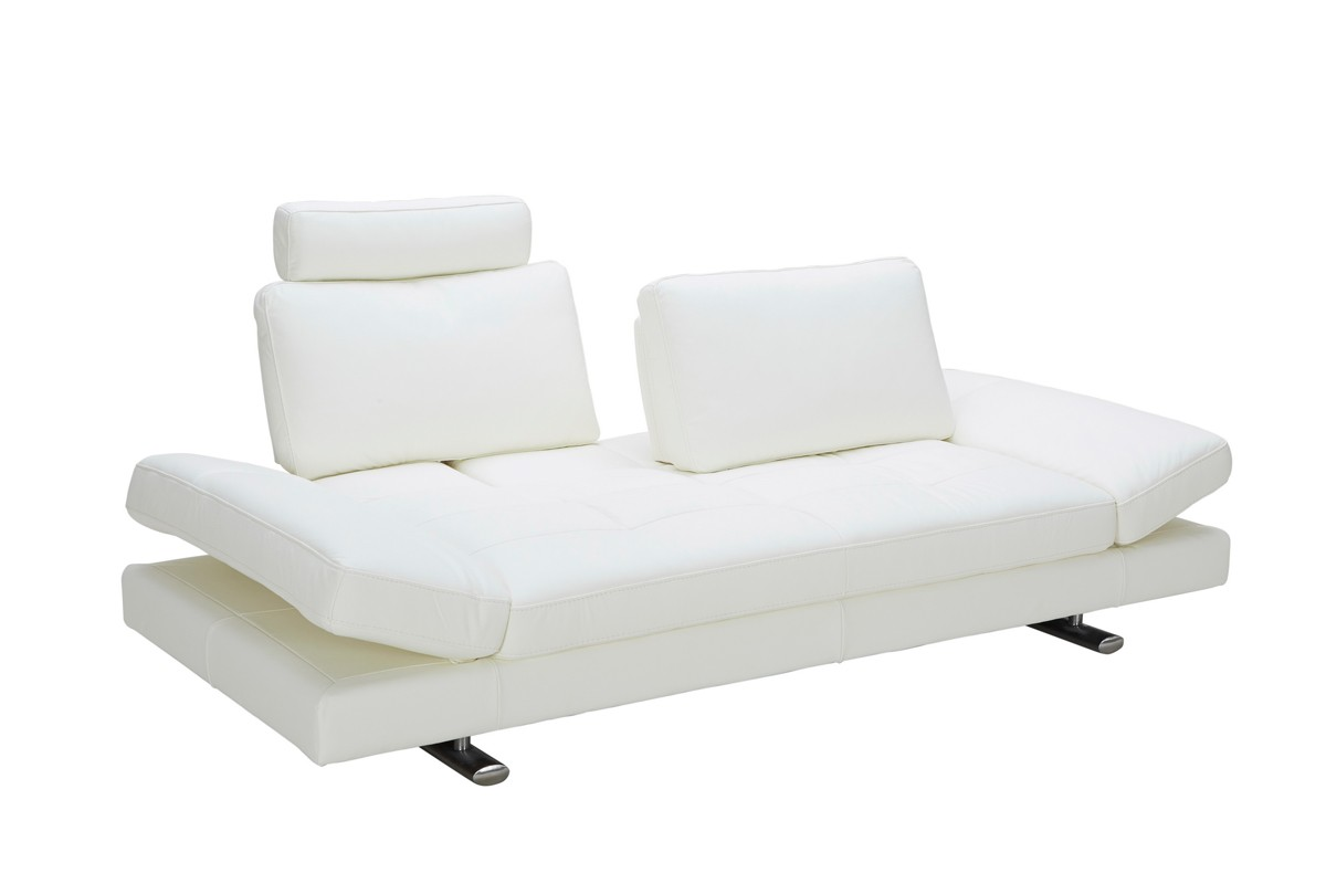White Leather Couch Divani Casa Chase Modern White Leather Sofa Special Order Cat A