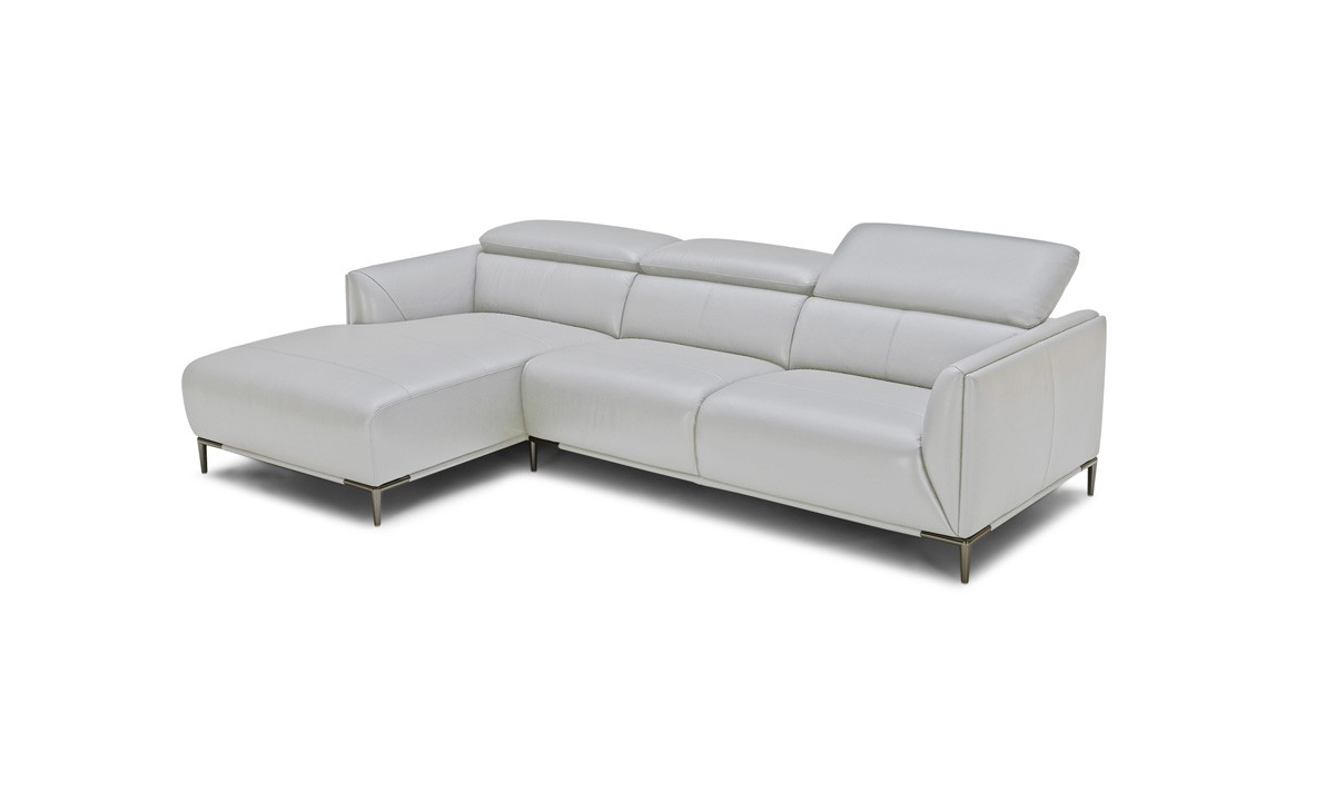 Divani Leather Sofa For Sale Divani Casa Sansa Modern Grey Leather Sectional Sofa Special