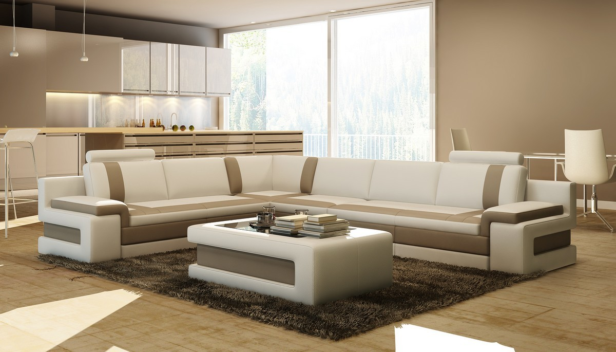 Divani Casa Encore Sofas En Casa Divani Casa Grey And Black Bonded Leather Sofa Set