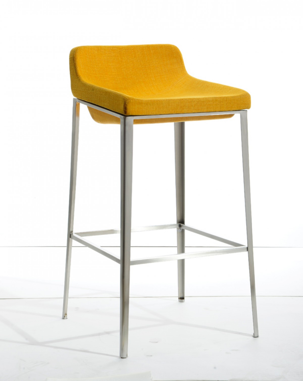 Bright Colored Bar Stools Modrest Adhil Modern Yellow Fabric Bar Stool