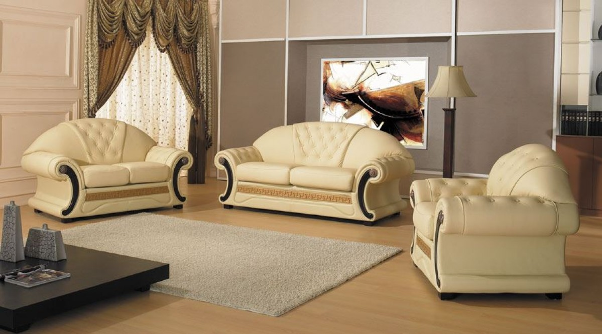 Divani Barocchi Ebay Cleopatra Traditional Leather Sofa Set