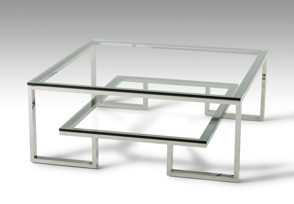 Modern Glass Table Modrest Topaz Modern Glass Coffee Table Coffee Tables