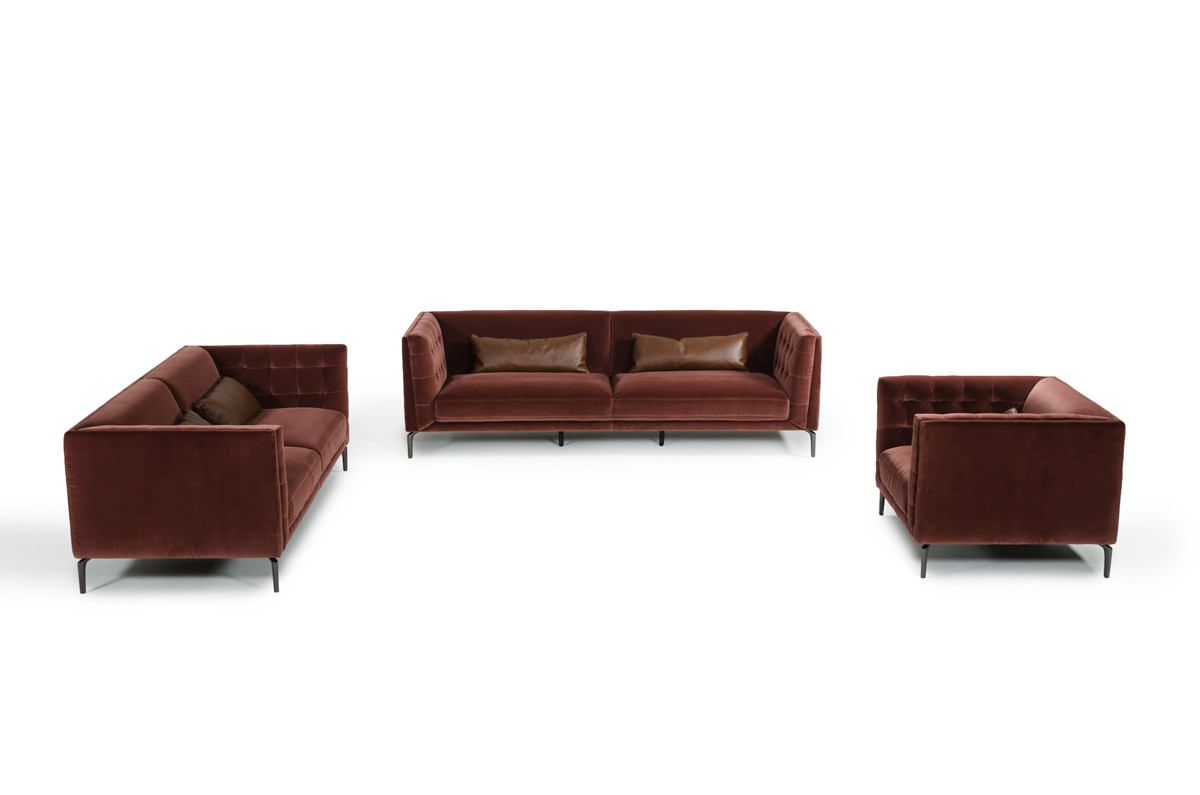 Divani Sofa Set Divani Casa Ansted Modern Fabric Sofa Set