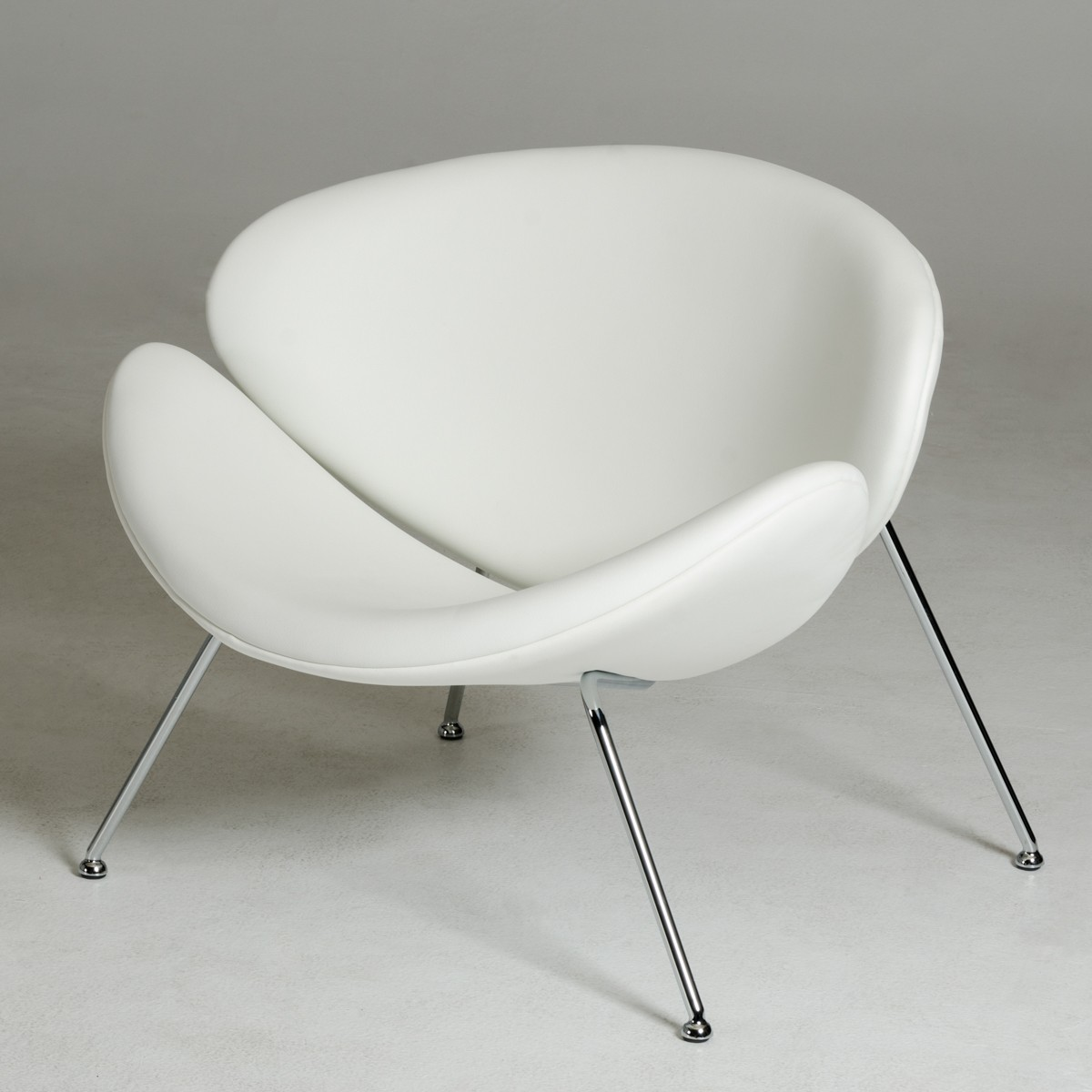 Contemporary Seating Modrest Anais Contemporary White Leatherette Accent Chair Lounge