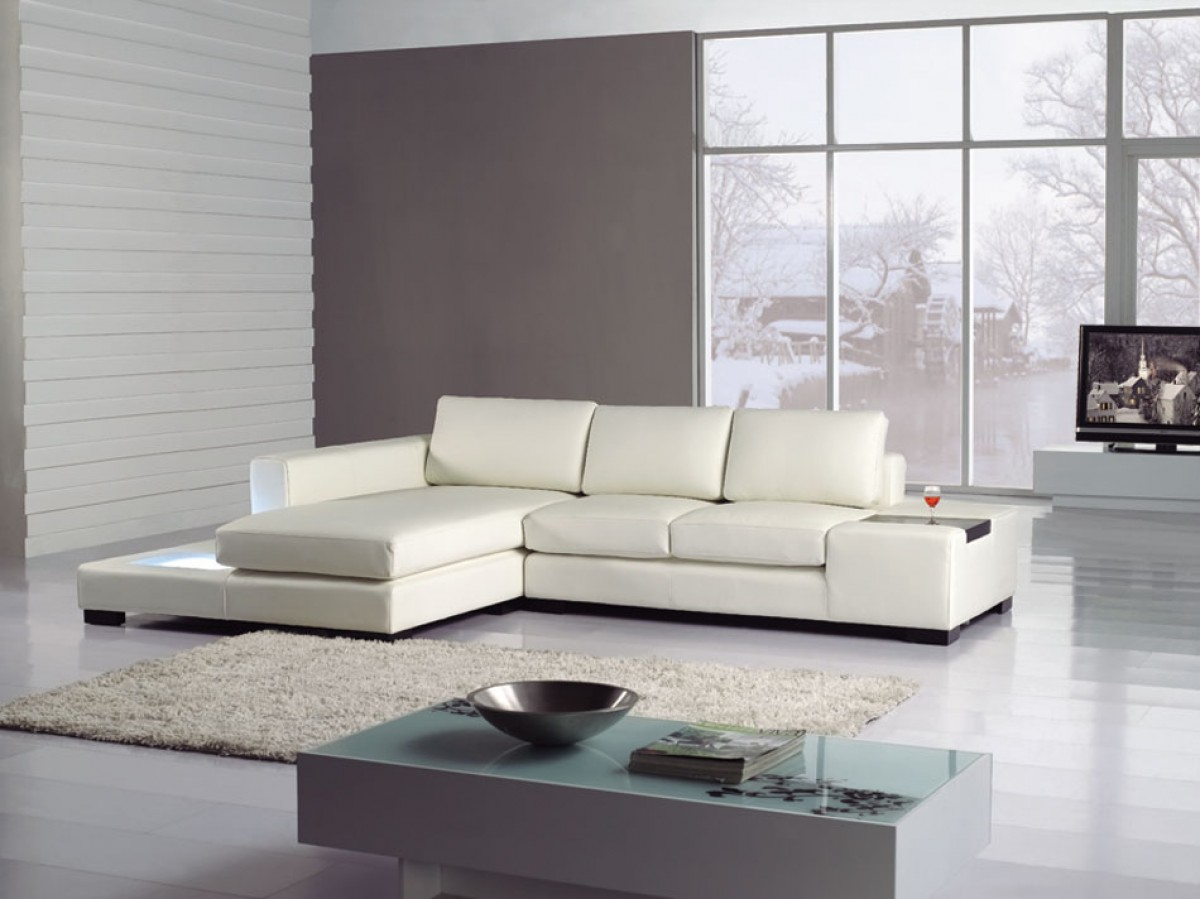 Genuine Leather Sectional Canada T35 Mini