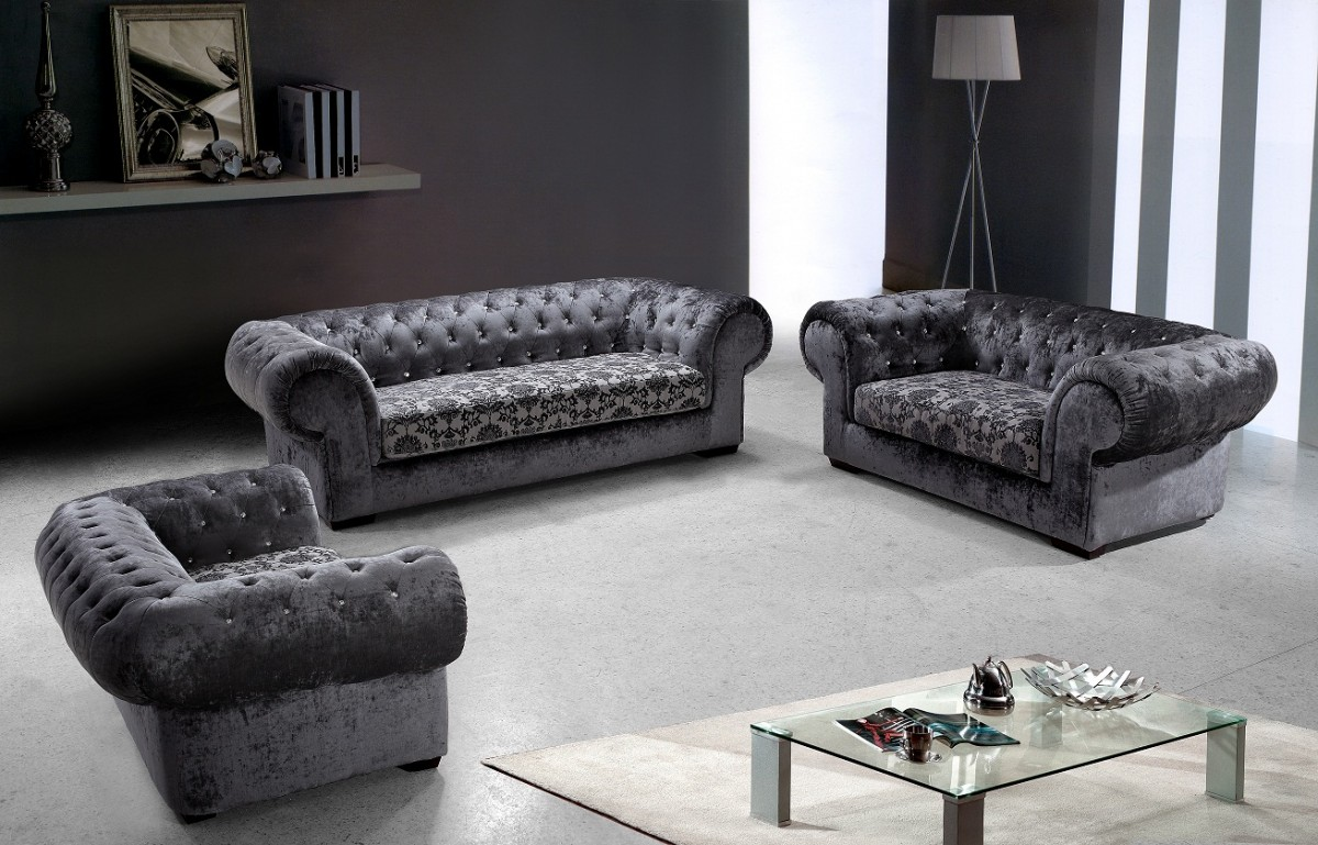 Divani Sofa Set Divani Casa Metropolitan Modern Fabric Sofa Set With