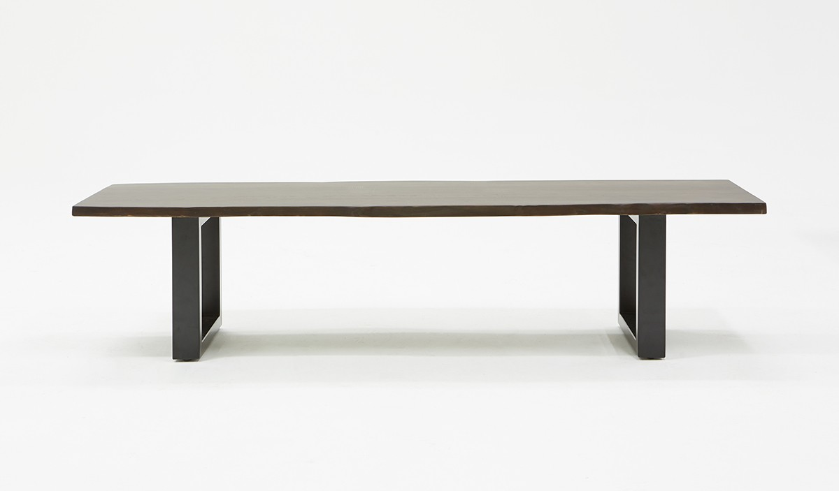 Urban Sofa Live Edge Modrest Leon Modern Umber Wood Live Edge Dining Bench