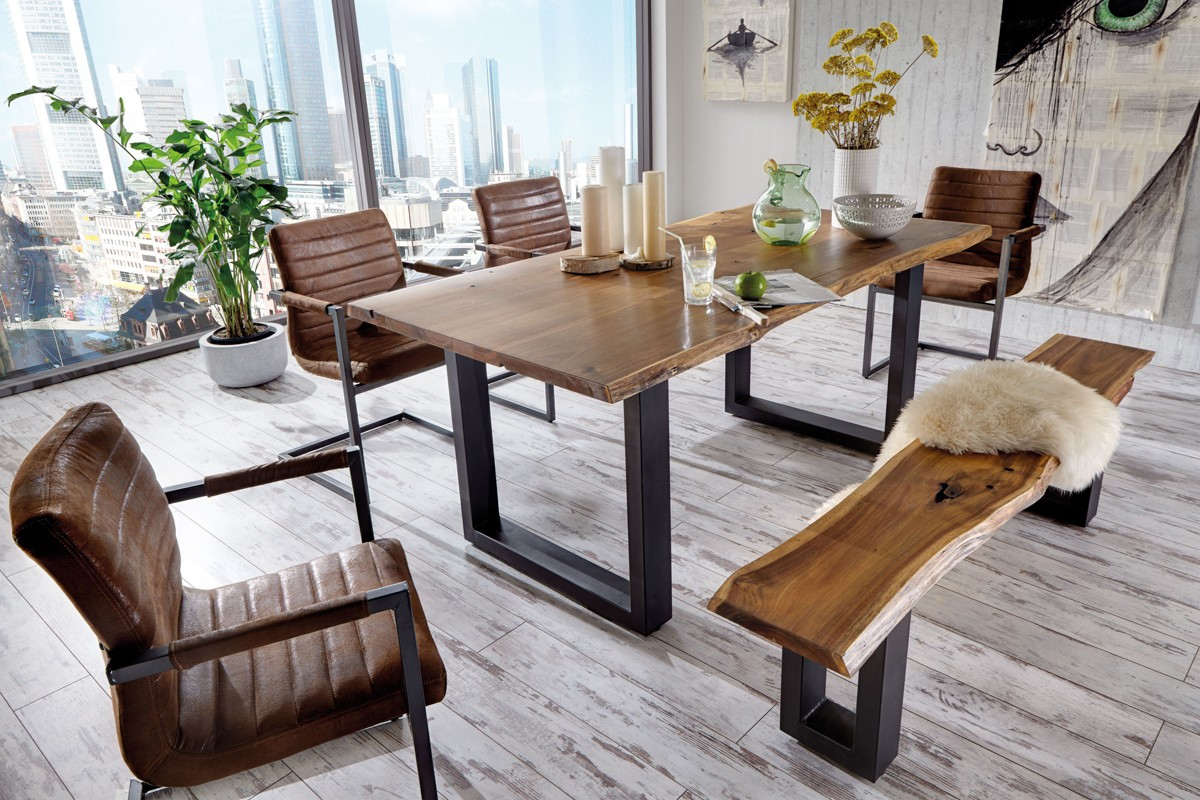 Office Tisch Modrest Taylor Modern Live Edge Wood Dining Table