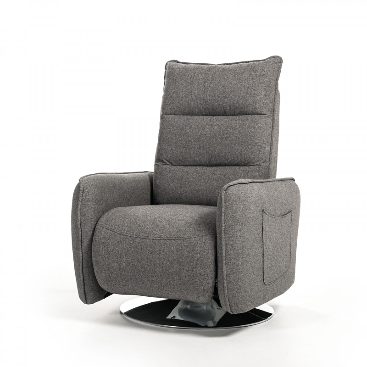 Modern Living Room Recliners Divani Casa Fairfax Modern Grey Fabric Recliner Chair Reclining