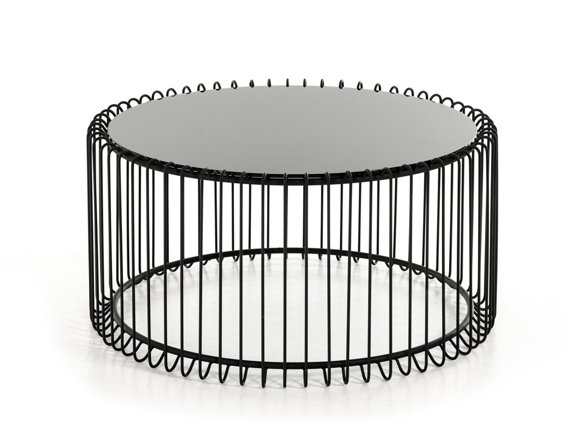 Round Contemporary Coffee Table Modrest Beacon Contemporary Black Round Coffee Table
