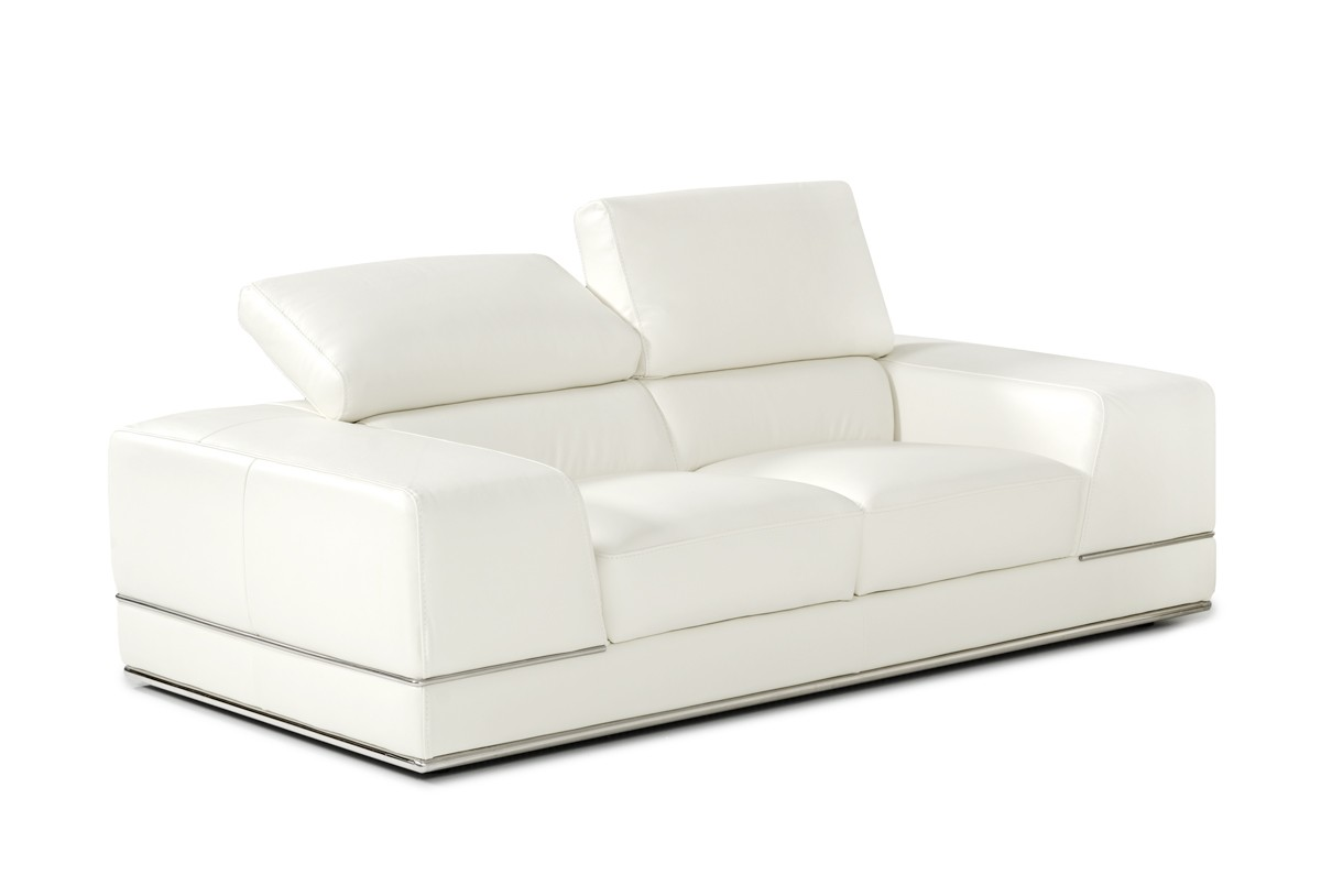 Divani Sofa Set Divani Casa Chrysanthemum Modern White Leather Sofa Set