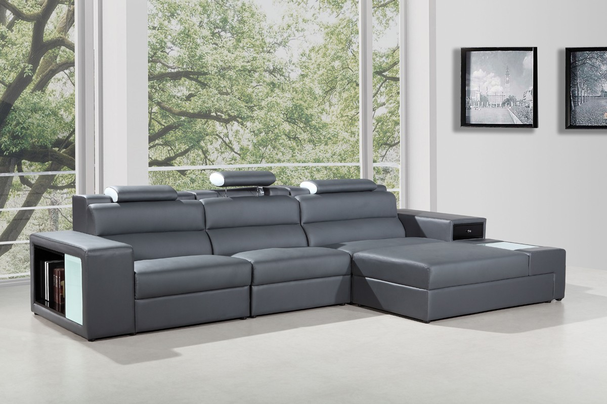 Mini Divani Furniture Divani Casa Polaris Mini - Contemporary Bonded Leather