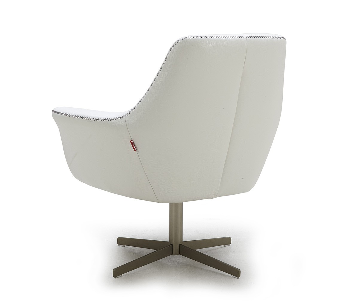 Divani Definition Divani Casa Poli Modern Leather Swivel Lounge Chair