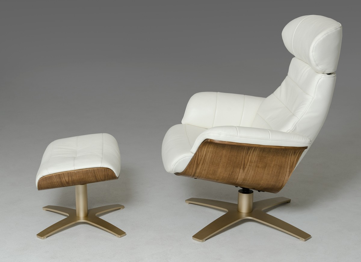 Leather Recliner Chairs David Jones Divani Casa Charles Modern White Leather Reclining Chair W