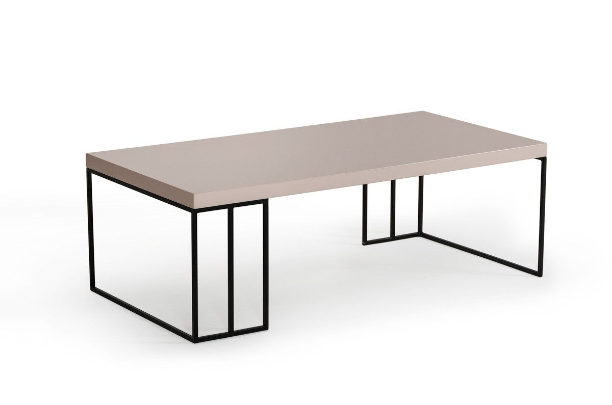 Grey Modern Coffee Table Modrest Hope Modern Grey Gloss Coffee Table