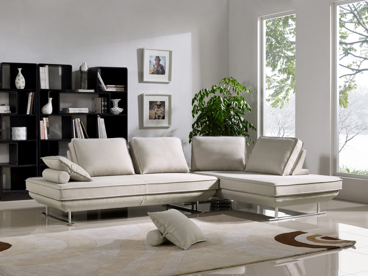 Grey Sofa In Lounge Divani Casa Radford Modern Grey Fabric Sofa Bed Set Sofa Beds
