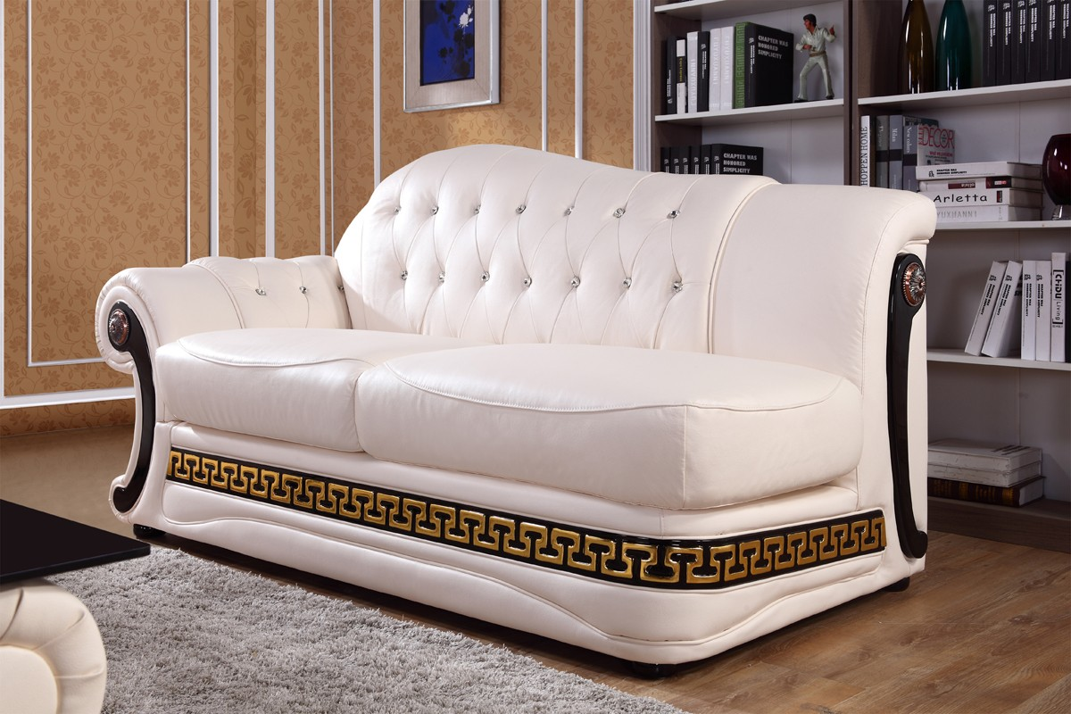 Sofa Set Offer Up Divani Casa Suzanne Classic Cream Leather Sofa Set Sofas