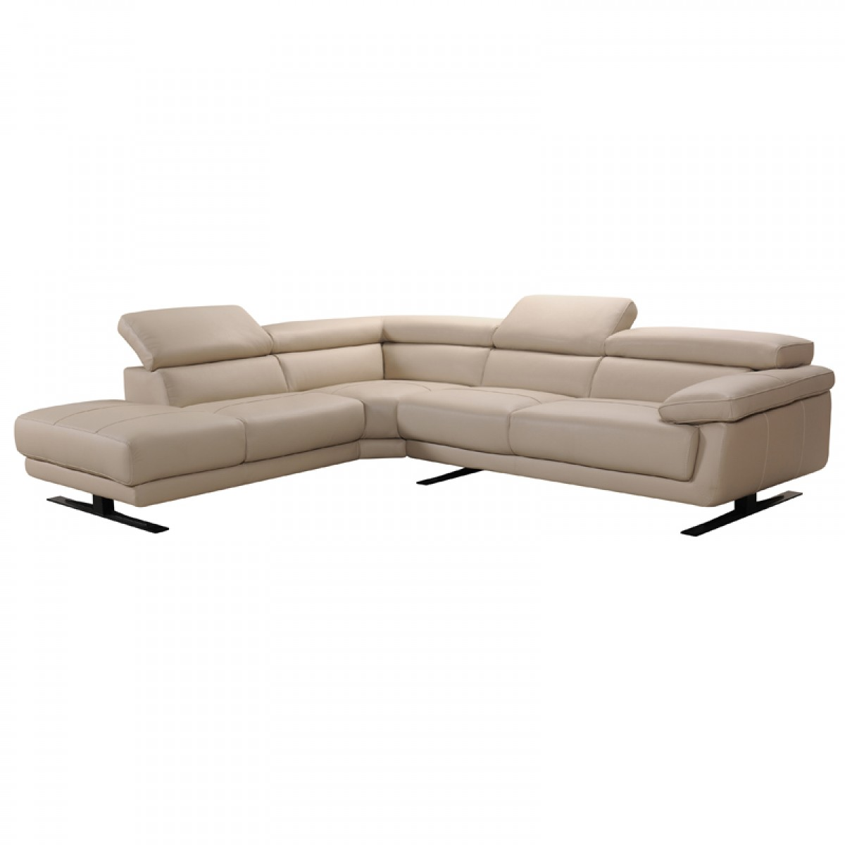 Sofa Taupe Divani Casa Gypsum Modern Taupe Leather Sectional Sofa