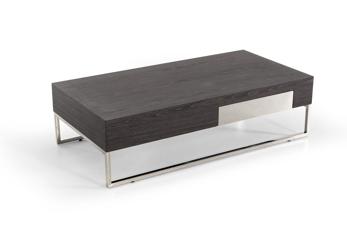 Grey Modern Coffee Table Modrest Vernon Modern Grey Elm Coffee Table