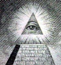 Freemason, Lovely 18th Century Cedar Wood Chest &the All Seeing Eye.illuminati Masonic Antique Furniture