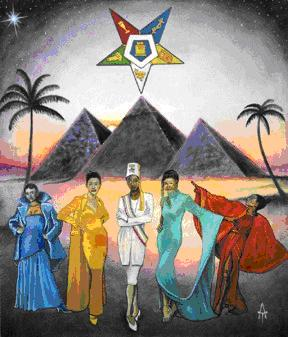 OES art depicting Sirius above the Great Pyramid.