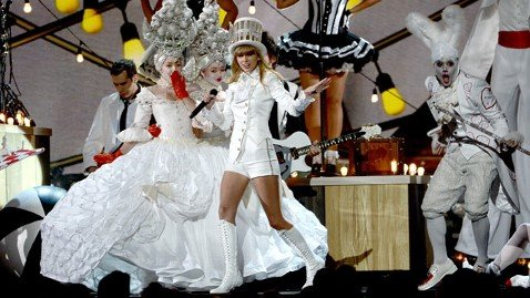 "Taylor Swift's Grammy performance was one, big, nightmarish tribute to an MK-Ultra favorite: Alice in Wonderland. When will the music industry tire of refering to it? Apparently, never. Here we see the Taylor with the White Rabbit - as in ""follow the White Rabbit through the looking glass"", a trigger phrase to encourage dissociation in Mind Control."