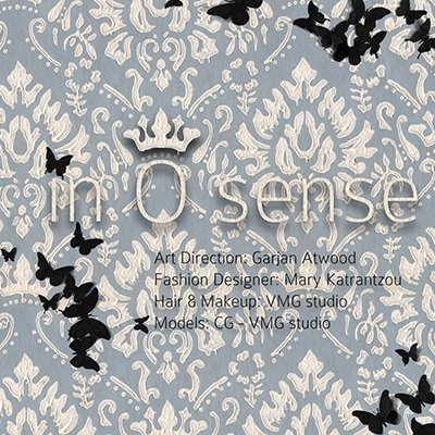 "The fashion set ""in 0 sense"" features a bunch of MK-related symbolism. Even this title page has a bunch of butterflies, which hint to Monarch programming."