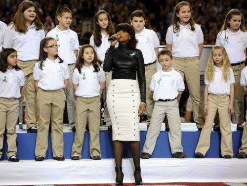 sandy hook chorus at super bowl This article is a list of national anthem performers at the super bowl the us national anthem the sandy hook elementary school chorus performs at super bowl xlvii the following super bowls featured other patriotic performances.