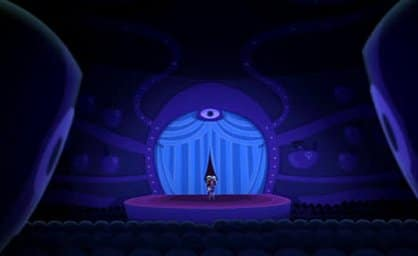 Operatta's stage is &quot;overseen&quot; by a prominent All-Seeing Eye.