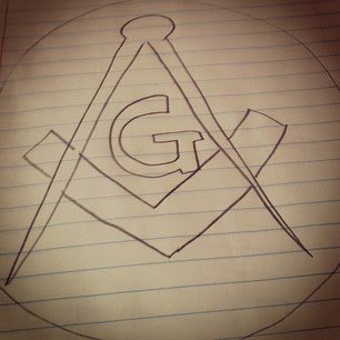 The sign of Freemasonry.