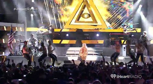 "Ke$ha's iHeartRadio ""Pool Party"" Performance: An Overload of Illuminati Symbolism"