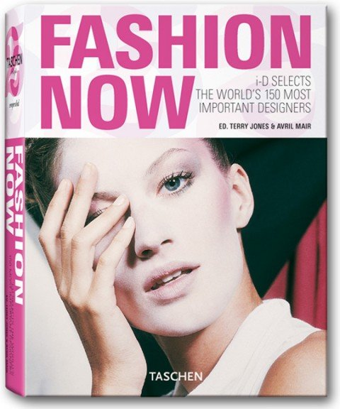 """Speaking of book covers, here's the cover of """"Fashion Now"""", a guide of the most influential designers. In case you didn't notice: THERE'S A ONE-EYE THING GOING ON ON THE COVER!"""